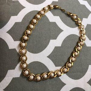 Jewelry - Pearl and Gold Wash Necklace